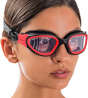 AqtivAqua Polarized Wide View Swim Goggles // Swimming Workouts - Open Water // Indoor - Outdoor Line