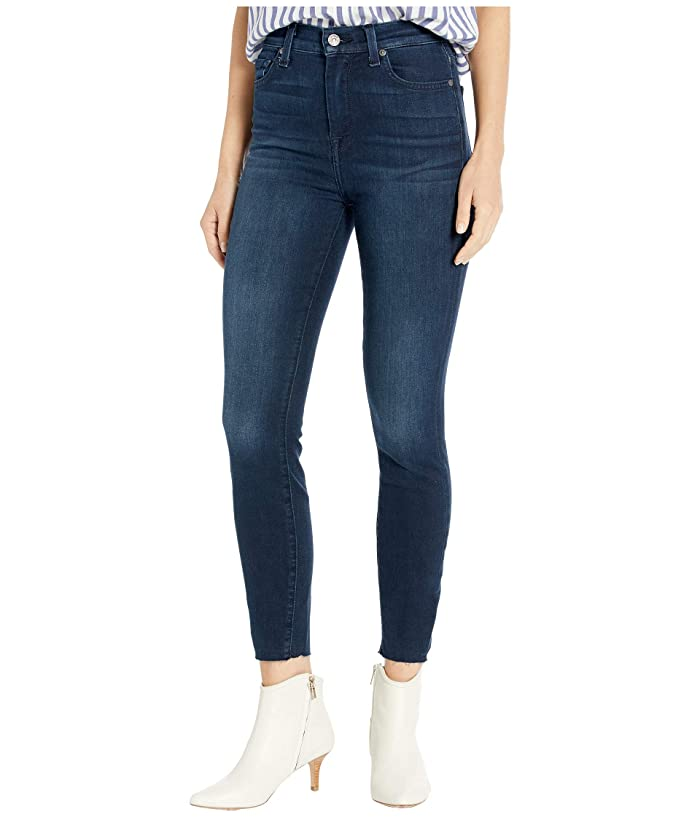 7 For All Mankind  High-Waist Ankle Skinny in Deep Waters 3 (Deep Waters 3) Womens Jeans