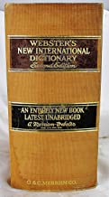Webster's New International Dictionary of the English Language, Second Edition, Unabridged