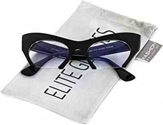 Cat Eye Eyeglasses Women Retro Vintage Razor Clear Lens...