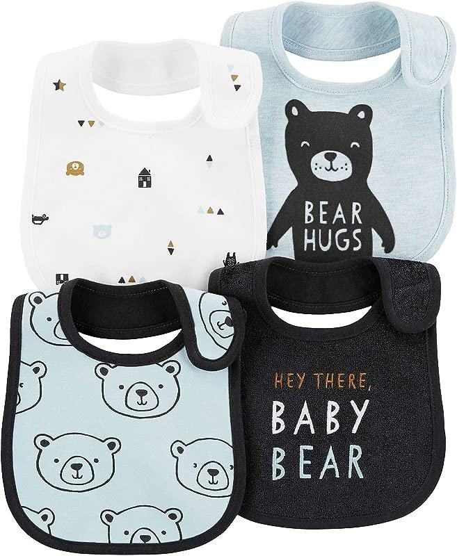 Carter S Baby Boys 4 Pack Teething Bibs