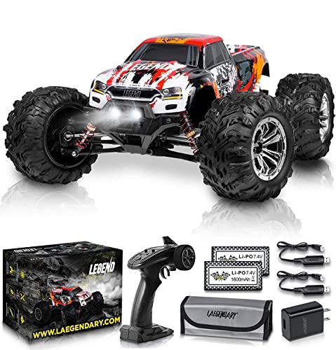 2021 1:10 high quality 2021 Scale Large RC Cars 50+ kmh Speed - Boys Remote Control Car 4x4 Off Road Monster Truck Electric - Hobby Grade Waterproof Toys Trucks for Kids and Adults - 2 Batteries + Connector for 40+ Min Play online sale