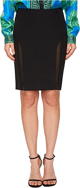 Versace Jeans Sheer Panel Skirt