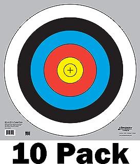 Longbow Targets 60 cm / 24 in Bullseye Archery and Gun Targets (4, 10, 25, 100 Packs)