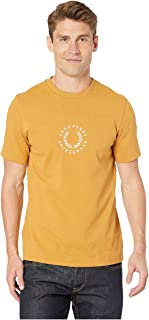 Fred Perry Mens CIRCULAR EMBROIDERED T-SHIRT T-shirts