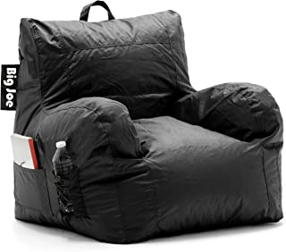 Big Joe Dorm Bean Bag Chair, Stretch Limo Black –