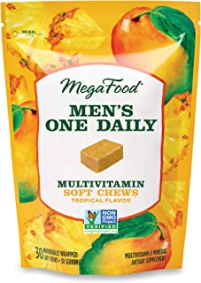 MegaFood, Men's One Daily Multivitamin Soft Chews, Daily Supplement, Supports Optimal Health and Well-Being, Gluten-Free, ...