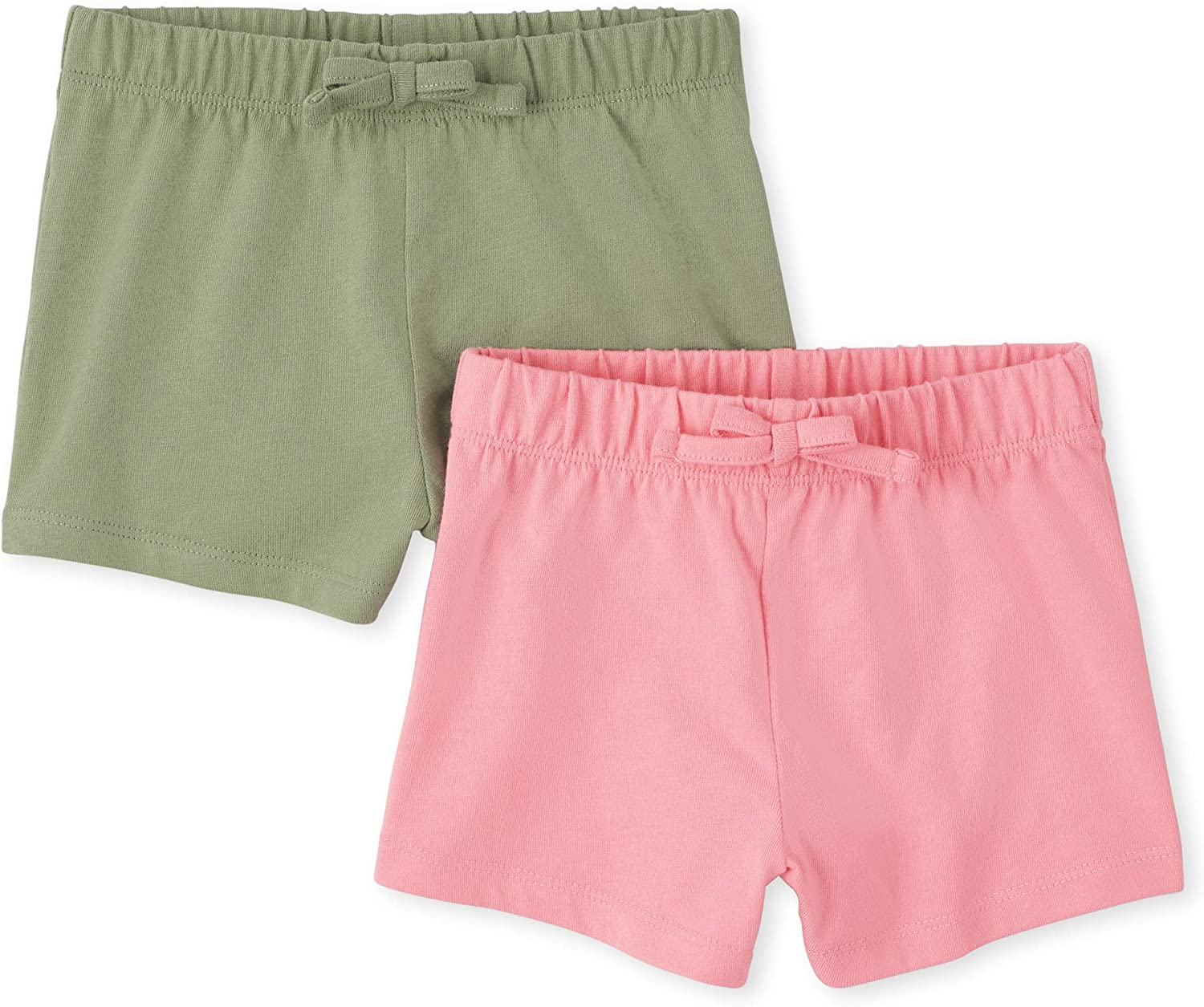 The Children's Place Baby Girls' Shorts, Pack of Two