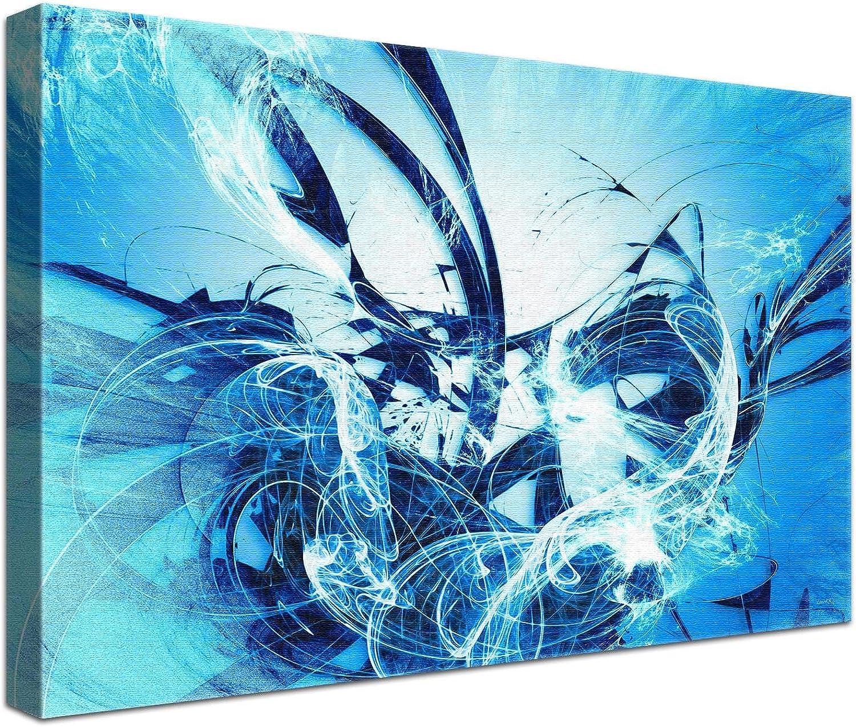 LANA KK Luxus Ausführung Graf Fire Fire Fire Ice  Abstraktes Design auf 4cm Echtholz, Blau, 100 x 70 cm B074SYSCCF | Moderater Preis  92bd17