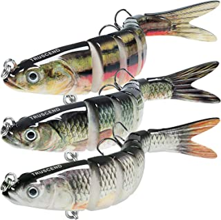TRUSCEND Fishing Lures for Bass Trout Multi Jointed...