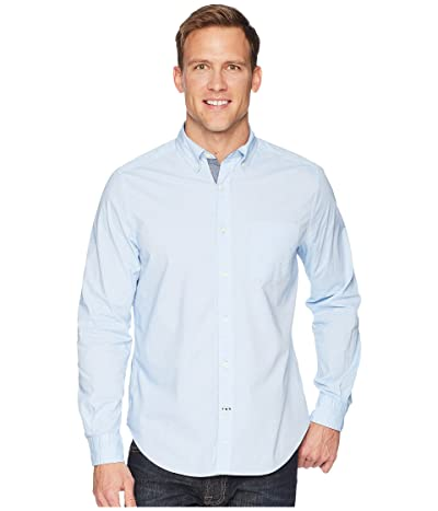 Nautica Long Sleeve Anchor Solid End on End (Light French Blue) Men