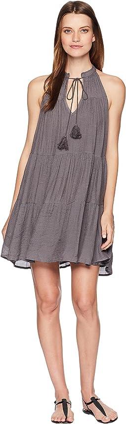 Landry Sleeveless Dress with Tassels