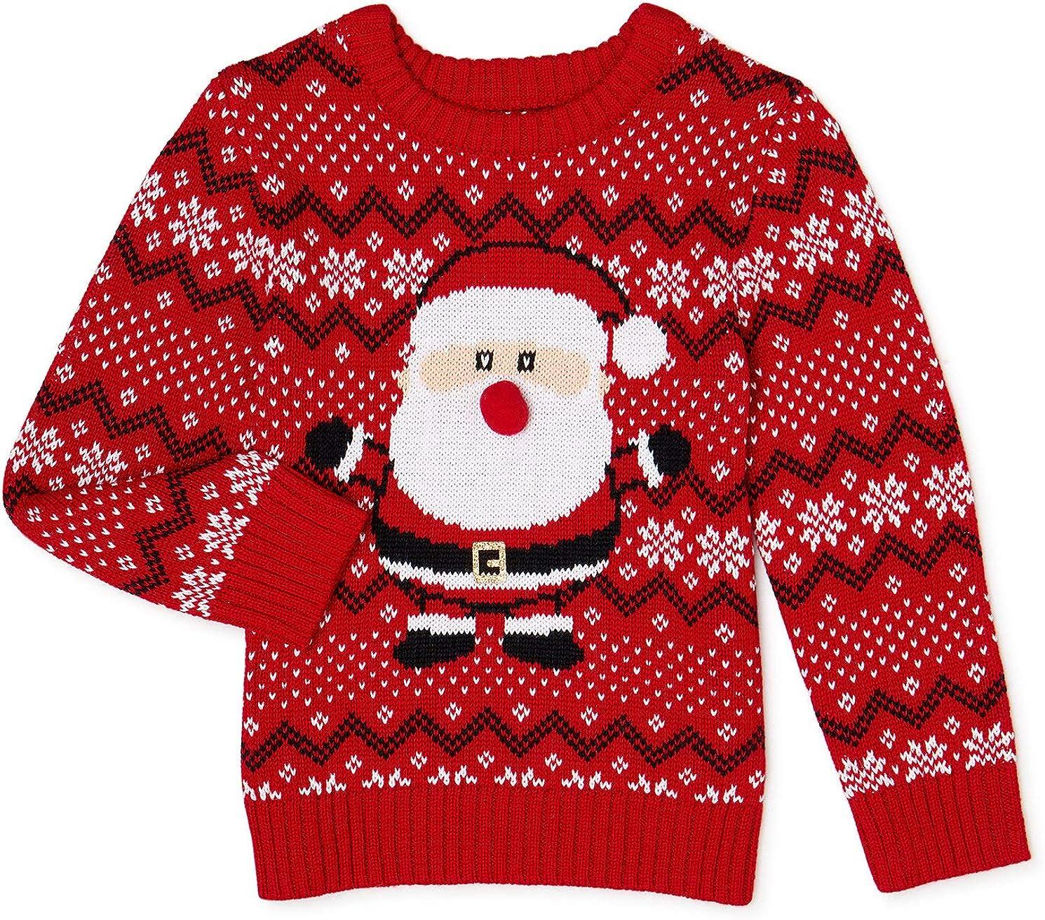 Way to Celebrate Baby Boys' Santa Claus Sweater