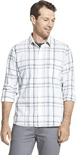 Van Heusen Men's Slim Fit Never Tuck Long Sleeve Button Down Plaid Shirt