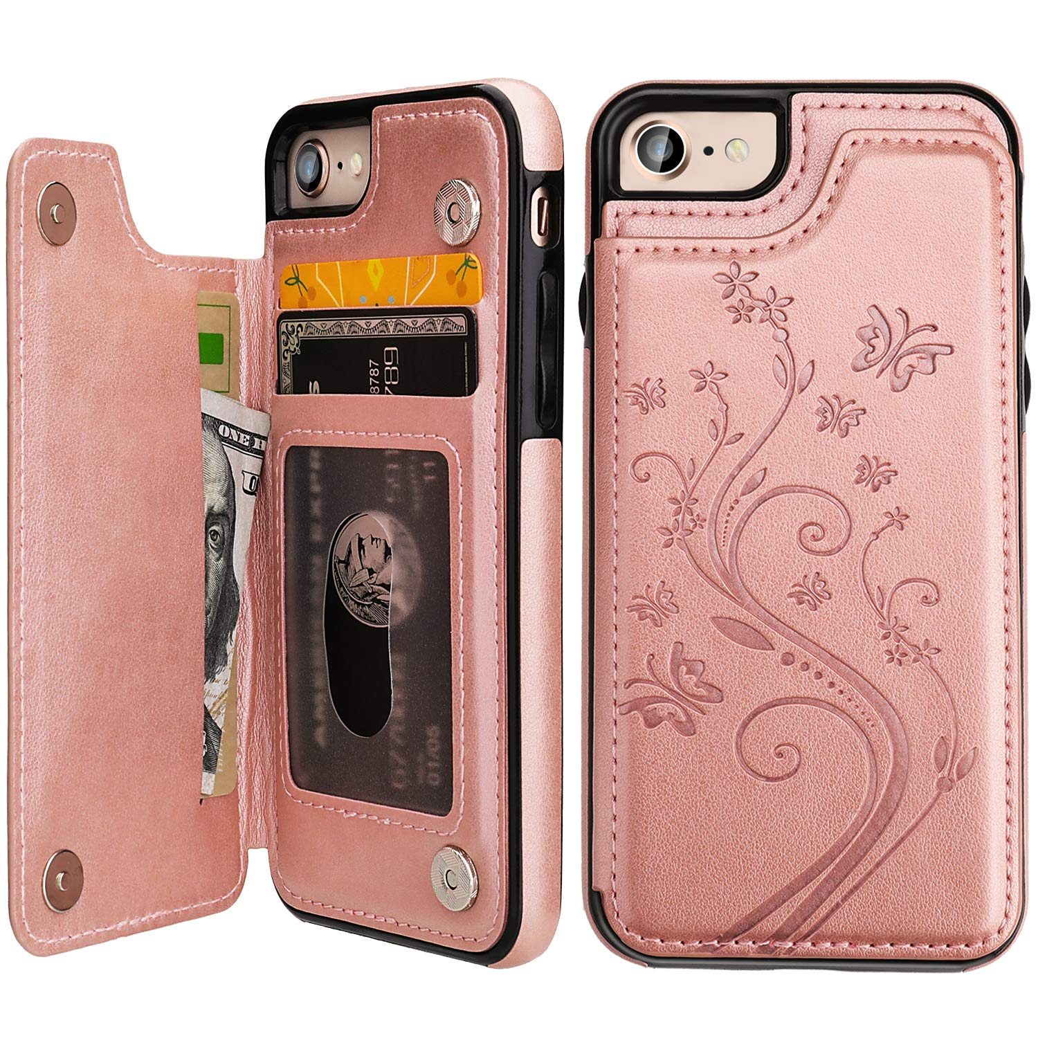Vaburs Embossed Butterfly Shockproof Protective