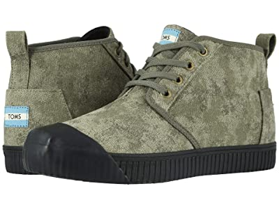 TOMS Venice Collection Botas Indio (Dusty Olive Distressed Printed Canvas) Men