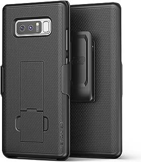 Encased Samsung Galaxy Note 8 Belt Holster, Thin Fit [DuraClip Series] Slim Grip Case & Belt Clip (Smooth Black)