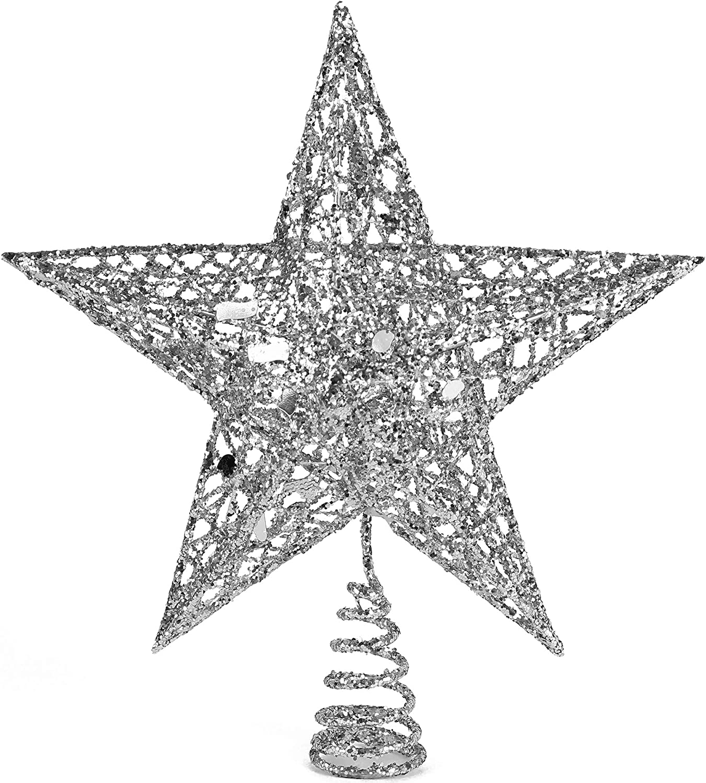 Ornativity Silver Star Tree Ranking TOP7 Topper cheap Orna - Glitter Christmas
