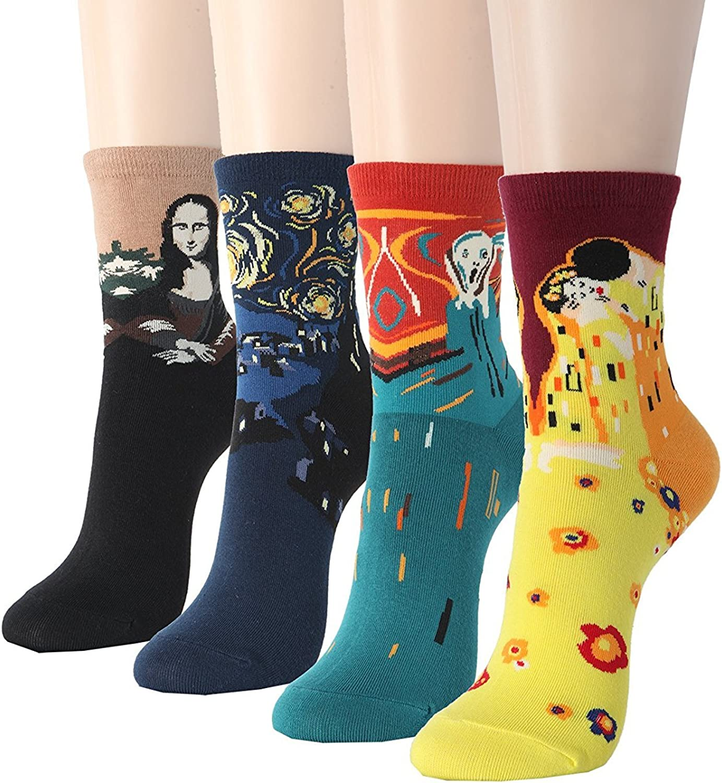 BALMOA Women Now Max 41% OFF on sale Socks Gift - Animal Cat Character Animation Art Dog