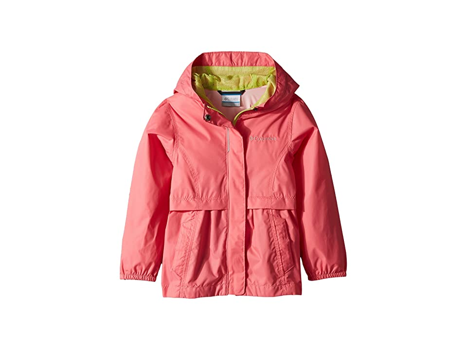 Columbia Kids Pardon My Trench Rain Jacket (Little Kids/Big Kids) (Lollipop/Green Glow) Girl