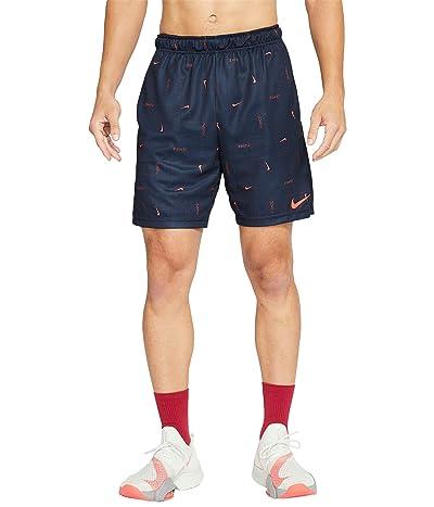 Nike Dry Shorts All Over Print SP (Obsidian/Bright Crimson) Men