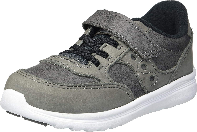 Saucony Boys' Baby Jazz LITE Sneaker, grey, 4.5 Medium US Toddler