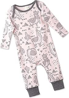 Tesa Babe Llamas Cactus Spring Summer Romper for Newborns, Baby Boys Girls & Toddlers, Multi