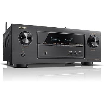 Denon AVレシーバー 7.2ch Dolby Atmos/DTS:X/HEOS機能搭載 ミドルクラス ブラック AVR-X2400H-K