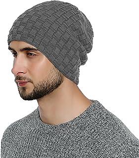 ba95999332 DonDon Bonnet d'hiver Bonnet homme Beanie Slouch Style avec doublure très  douce et confortable