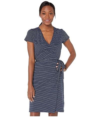 PACT Wrap Dress (Wayfinder Stripe Navy) Women
