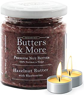 Butters & More Vegan Hazelnut Butter with Real Blueberries (200G) No Artificial Flavours Or Colour. with a Surprise Diwali...
