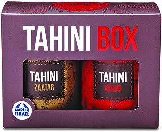 Yoffi Tahini Box, Tahini Sauce 2 Delicious Flavors, Skhug and Zaatar (2 x 6.7 Oz)