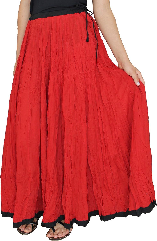 Sacred Threads Red Skirt w/Black Trim - #213922