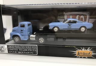 M2 Machines 1 of 6000 Worldwide Auto-Haulers 1956 Ford COE & 1966 Ford Mustang GT 2+2 Fastback 1:64 Scale R12 14-11 Blue Details Like NO Other!