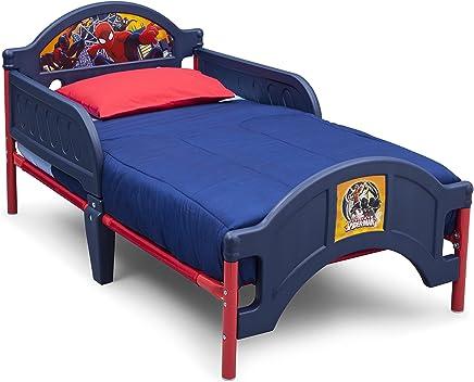 Delta Children Spider-Man Plastic Toddler Bed, Multi Color