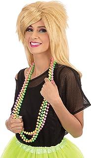 Bristol Novelty BA3310 Damen Halskette 80er Jahre Neon Perlen mehrfarbig