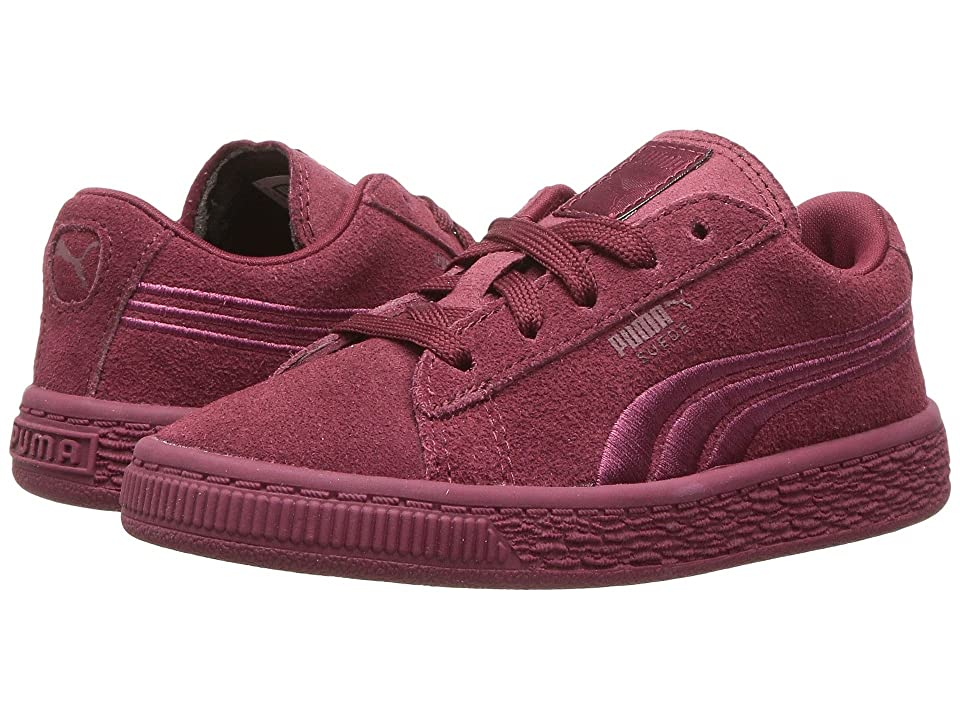 Puma Kids Suede Classic Badge INF (Toddler) (Cabaret) Girls Shoes