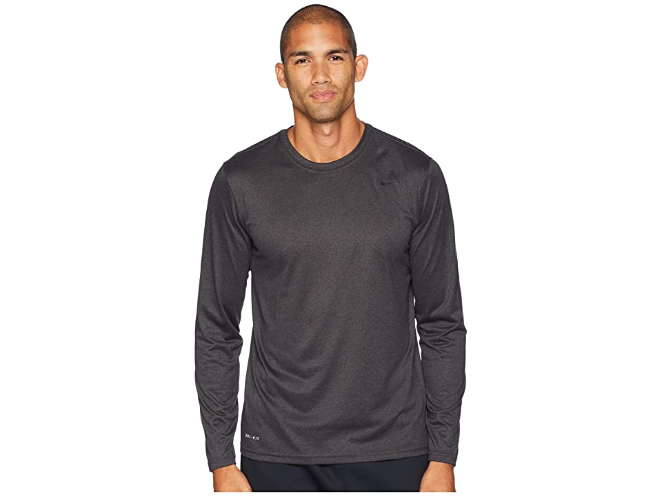 Nike Legend 2.0 Long Sleeve Tee (Black Heather) Men