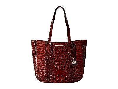 Brahmin Melbourne Medium Lena Bag (Pecan) Handbags