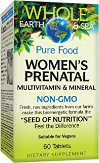 Whole Earth & Sea from Natural Factors, Women's Prenatal Multivitamin and Mineral, Whole Food Supplement, Vegan, 60 Tablet...