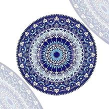 Sazaki Porcelain Dinnerware Set,Ceramic plates for Pasta,Salad,Maincourse,Microwave & Dishwasher safe,blue and white,set of 6
