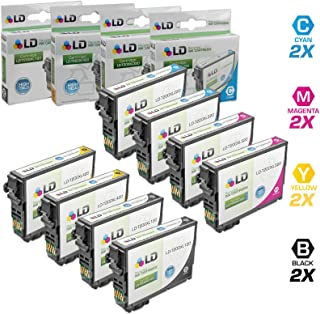 LD Remanufactured Ink Cartridge Replacements for Epson 200 200XL High Yield (2 Black, 2 Cyan, 2 Magenta, 2 Yellow, 8-Pack)