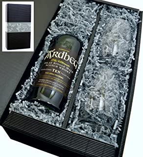 Ardbeg Single Malt Scotch Whisky 10y 46% 0,7l mit 2 Tumbler Gläser in Geschenkkarton