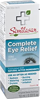Similasan Complete Eye Relief Eye Drops 0.33 Ounce Bottle, for Temporary Relief from Red Eyes, Dry Eyes, Burning Eyes, Wat...