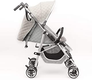 BABY PLUS BP9000 Baby Stroller Adjustable and Reclining Backrest, Grey - Pack of 1 BP9000-GREY