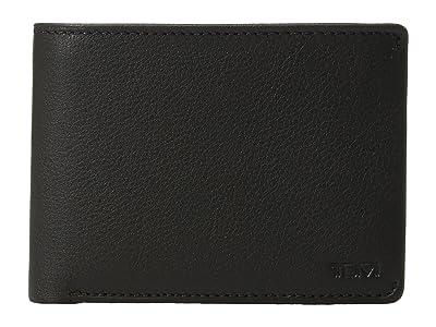 Tumi Nassau Double Billfold (Black Textured) Bill-fold Wallet