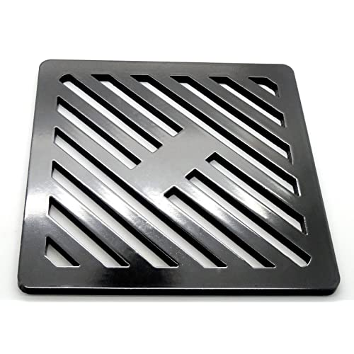 230mm 23cm Square solid metal steel Gully Grid Heavy Duty Drain Cover grate like cast iron, stronger