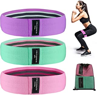 Criacr (Upgraded Version) Resistance Bands for Legs and Butt, Thicker, Non-Slip, High-Resistance Workout Bands, 3 Levels R...