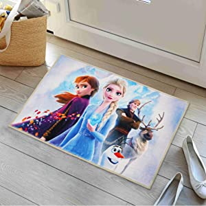 LX Fro_Zen Rug Anime Area Rugs for Girls Room Decor Non-Slip Mats for Gaming Desk Gifts 16x24 Inches