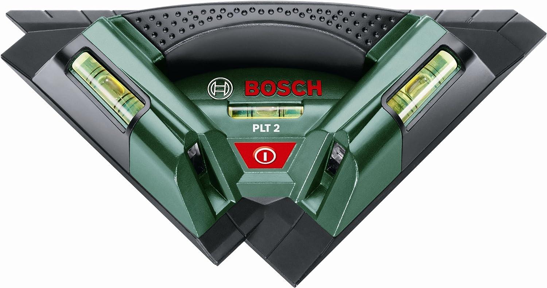 Bosch DIY Fliesenlaser PLT 2, 3x Batterien AA, Universalhalterung (Arbeitsbereich 7 m, 0,5 mm m Messgenauigkeit) B002LCAXWK | Stilvoll und lustig